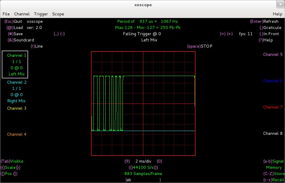 PPM signal   Arduino Radio Control